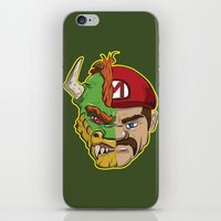 mario kart iPhone & iPod Skins featuring Mario Chimera by The Cracked Dispensary