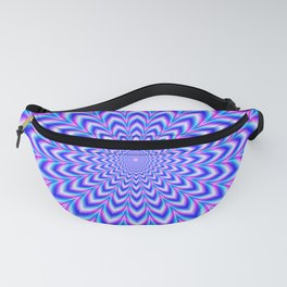 Psychedelic Pulse in Blue and Pink Fanny Pack