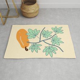 Papaya illustration Rug