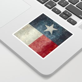 Texas state flag, vintage banner Sticker