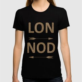 Cool LONDON Typography with arrows T-shirt