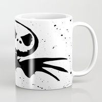 jack skellington Mugs featuring Jack Skellington - Nightmare before Christmas by bailey harper