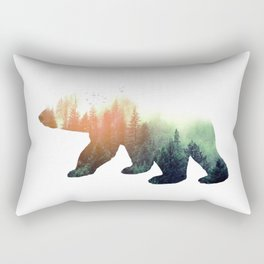 Forest Bear Rectangular Pillow