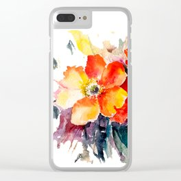 Poppies Teide Clear iPhone Case