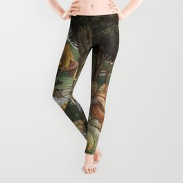 Trials of Moses Painting by Botticelli - Sistine Chapel Leggings