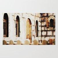 castle Area & Throw Rugs featuring Castle by Irène Sneddon