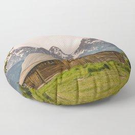 Grand Teton National Park Adventure Barn - Landscape Photography Floor Pillow
