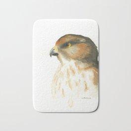 juvenile red-tailed hawk Bath Mat
