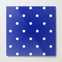 Dotty Blue Metal Print