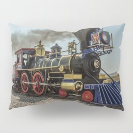 Central Pacific Railroad Jupiter at Golden Spike National Historic Site Utah Transcontinental Pillow Sham