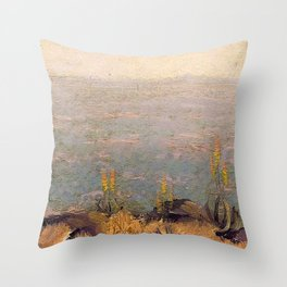 Canyon Scene with Aloes landscape painting by J.H. Pierneef Throw Pillow