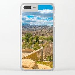 Desert landscape in sunny day in Andalusia Almeria , Spain Clear iPhone Case