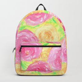 Peonies in Pink and Peach Backpack