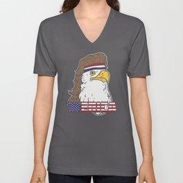 'Merica - Fourth of july American Mullet Eagle Unisex V-Neck
