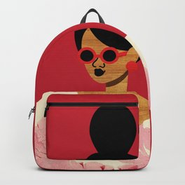 High Bun Postcard Girl Backpack