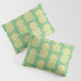 Mid Century Modern Pineapple Pattern Yellow and Green Pillow Sham
