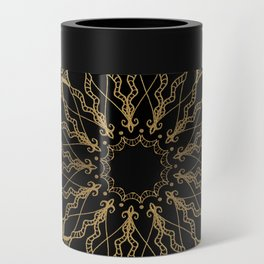 Golden Bee Mandala Can Cooler