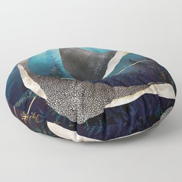 Metallic Stingray Floor Pillow