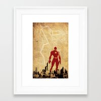 justice league Framed Art Prints featuring Flash Justice League by Edmond Lim