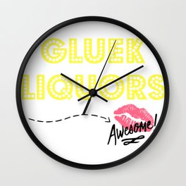 Gluek Licker Wall Clock