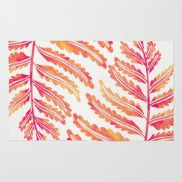 Fern Leaf – Peachy Pink Palette Rug