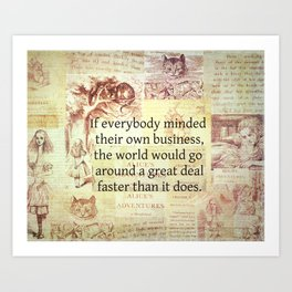 Alice in Wonderland. Quote Art Print