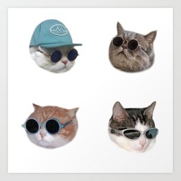 Cool Cats #1 Art Print