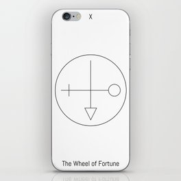 The Wheel of Fortune (Tarot Major Arcana) iPhone Skin