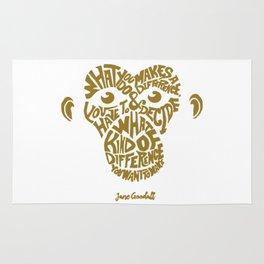 Jane Goodall monkey gold Rug