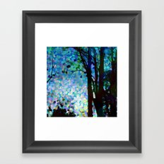 Blue Raspberry Jellybean Skies Framed Art Print