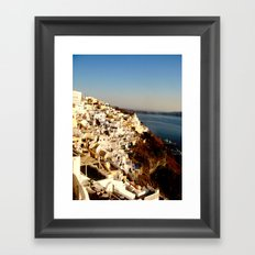 Santorini Coast Framed Art Print