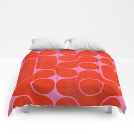 Abstract mid-century shapes no 6 Comforters