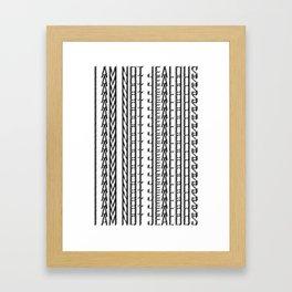 Jealous Framed Art Print