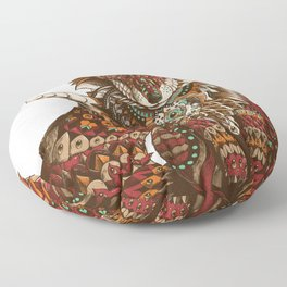 Red Fox (Color Version) Floor Pillow