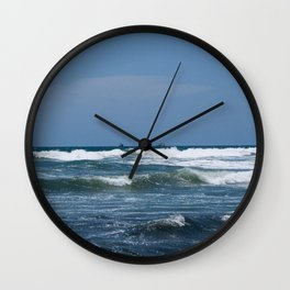 Small Waves Wall Clock