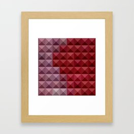 Falu Red Abstract Low Polygon Background Framed Art Print