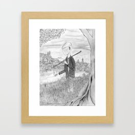 Tramp in search of identity Framed Art Print