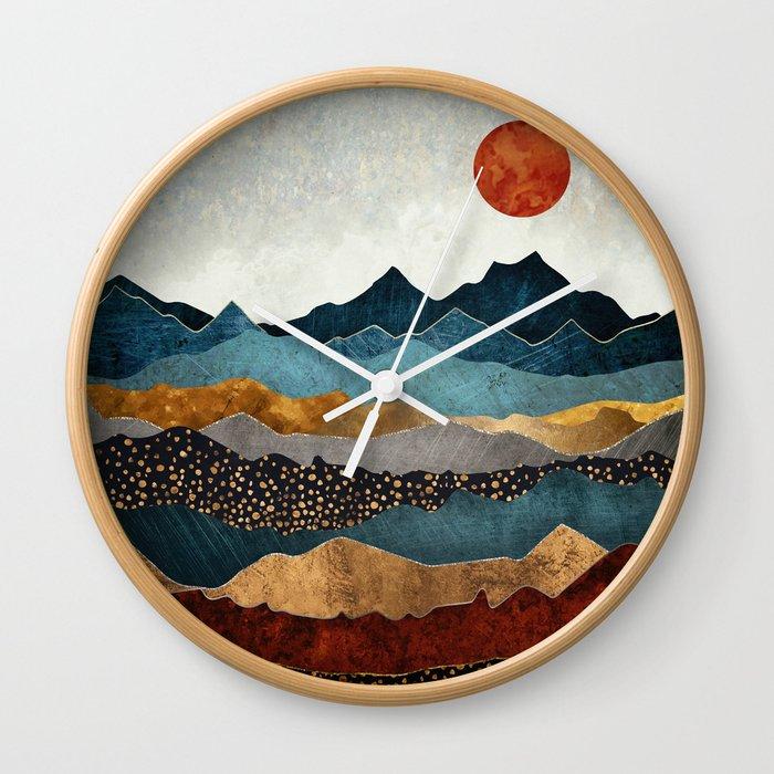 Amber Dusk Wall Clock
