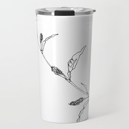 B&W Flower 1 Travel Mug