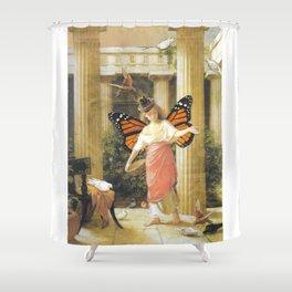 Birdfeeder Shower Curtain
