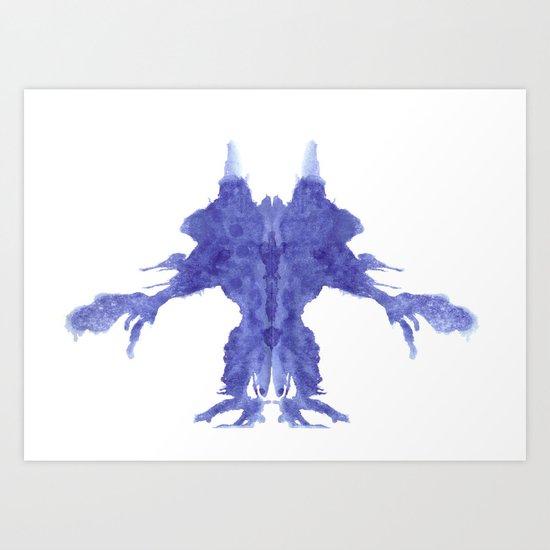 Rorschach Monster Art Print