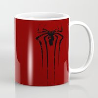 spider man Mugs featuring Spider Man by sambeawesome