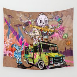 Pusher Carcophagus Wall Tapestry