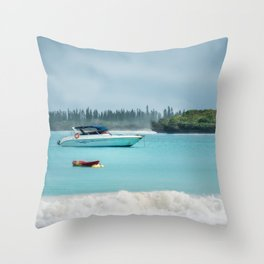 Overcast morning at Kuto Bay on Isle of Pines in New Caledonia. Throw Pillow
