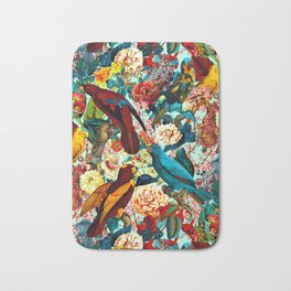 FLORAL AND BIRDS XV Bath Mat