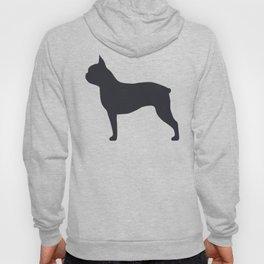 boston terrier silhouette Hoody