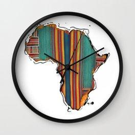 Striped Africa Wall Clock