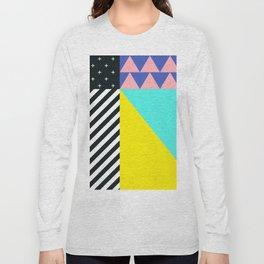 Memphis pattern 90 Long Sleeve T-shirt
