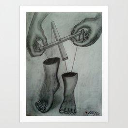 Follow our Lead Art Print