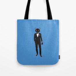 Gentleman Cat in Tuxedo suit Tote Bag